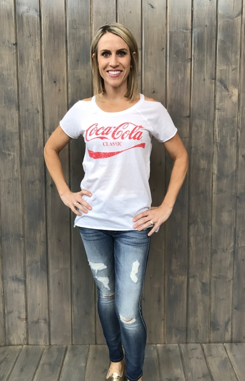 Vintage Coca Cola Cold Shoulder Tee