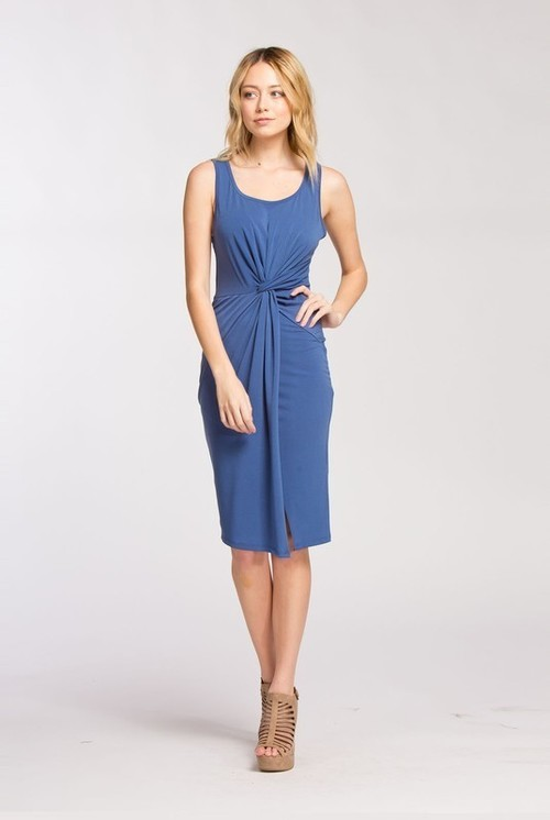Jodie twist dress (Blue)