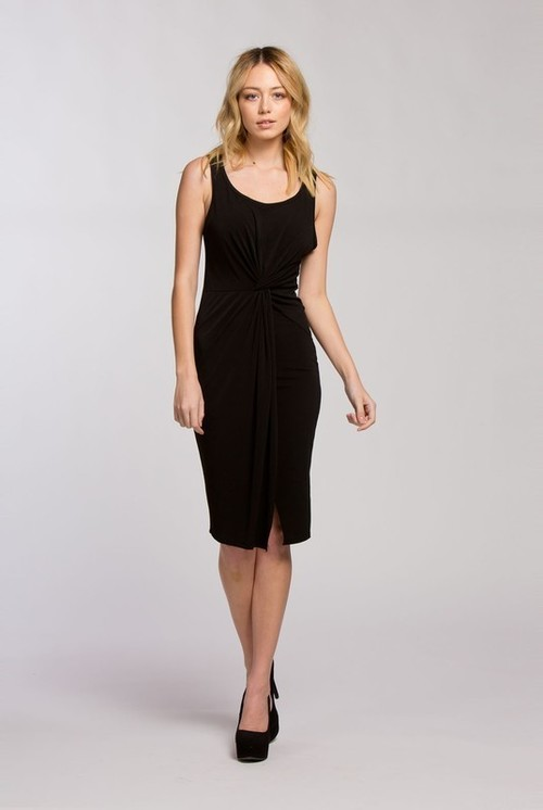 Jodie twist dress (Black)