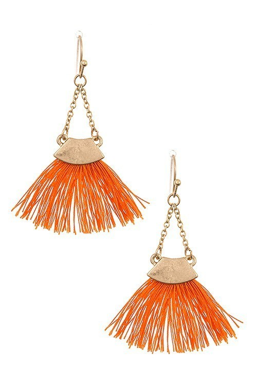 Fatima fringe earrings