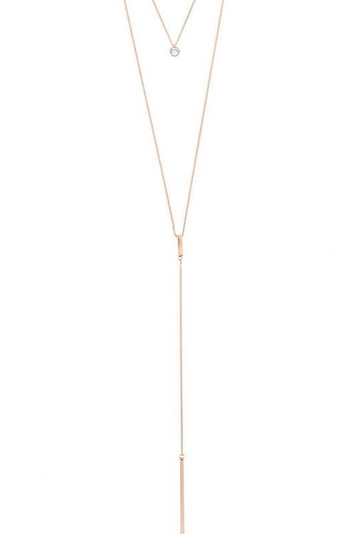 Astoria layered necklace (Rose Gold)