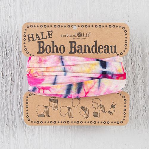 Pink & Yellow Tie Dye 1/2 Boho Bandeau