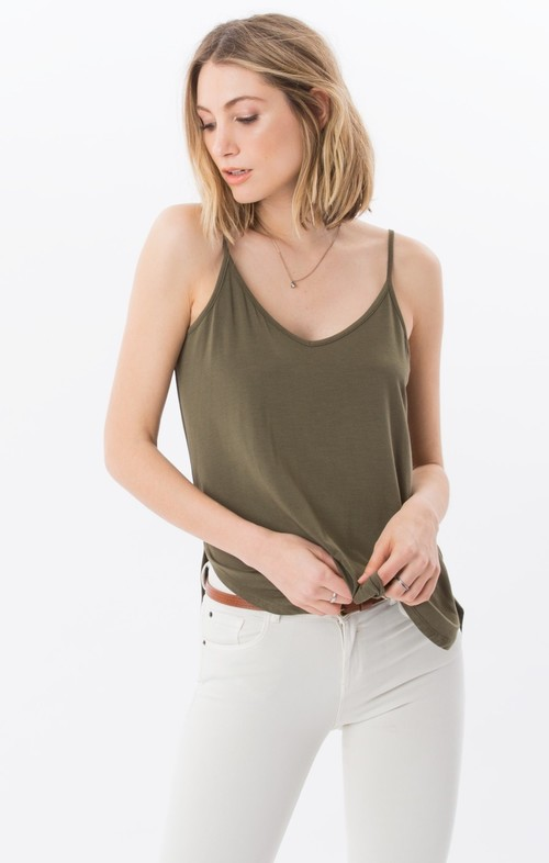 Strappy Sleek Tank Ivy Green