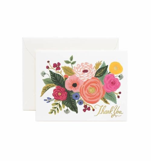 Thank You Juliet Rose Card