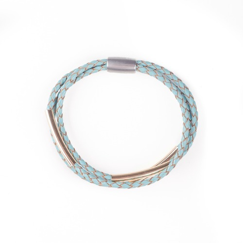 Braided Bar Magnetic Turquoise Bracelet