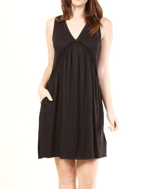 Calliope dress w/ pockets (Black)