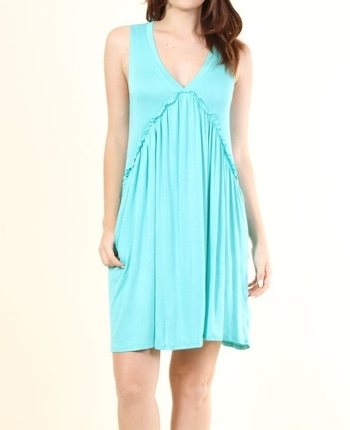 Calliope dress w/ pockets (Mint)