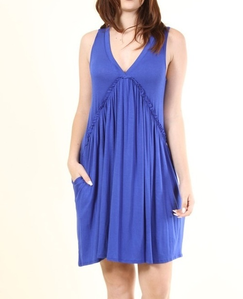 Calliope dress w/ pockets (Royal Blue)