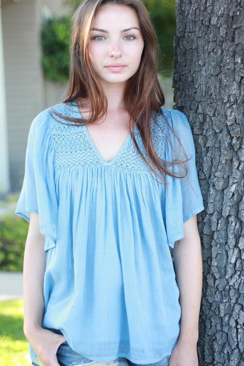 Shiraz Crochet Tunic Blue