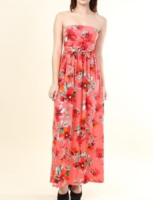 Rosie floral maxi dress