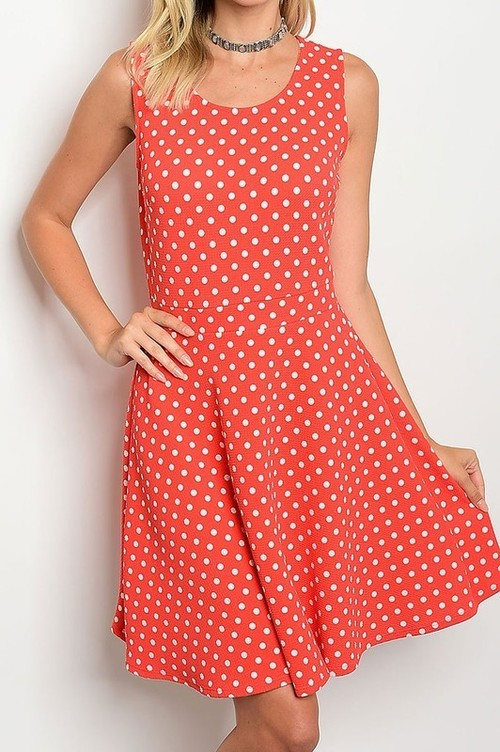 Susan polka dot sundress (Orange)