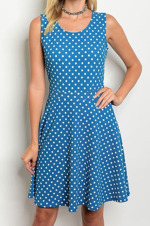 Susan polka dot sundress (Teal)