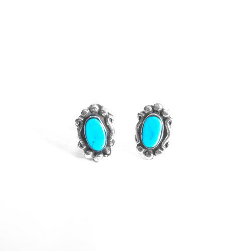 Navajo Oval Turquoise Silver
