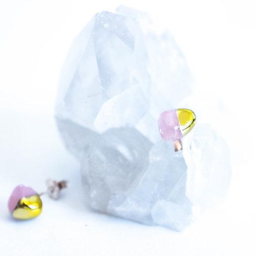 Rose Quartz Gold Dipped