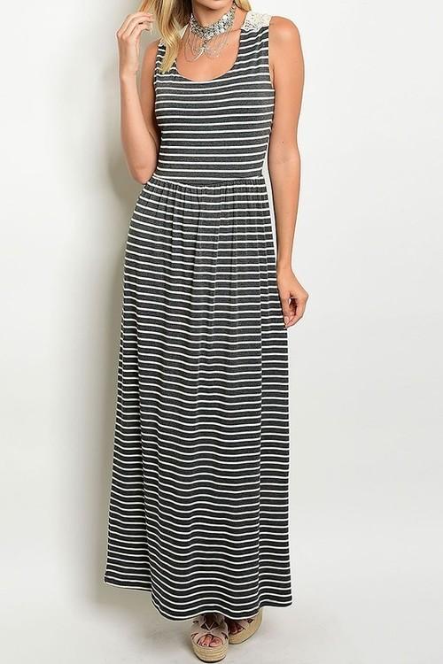 Set Sail striped maxi dress