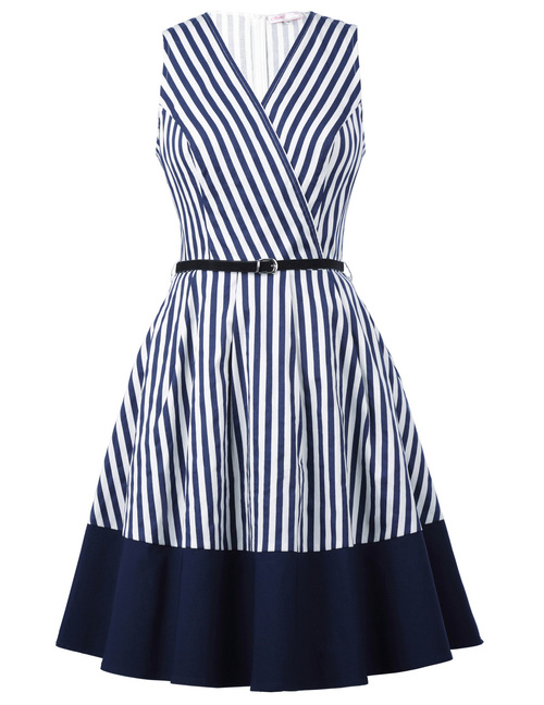 Cape Cod Dress in Nautical Stripes