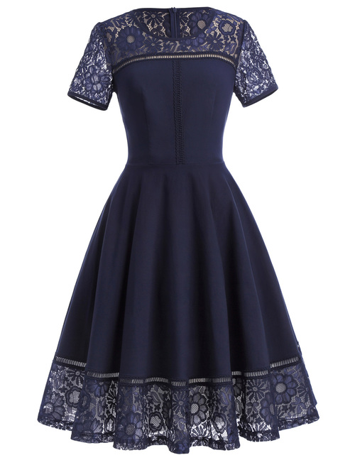 Clara Dress in Navy