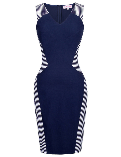 Mia Dress in Navy