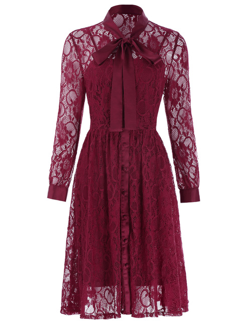 Ellie Dress in Wine Red