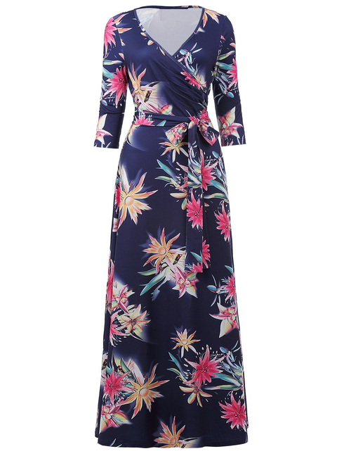 Yvonne Dress in Navy Floral
