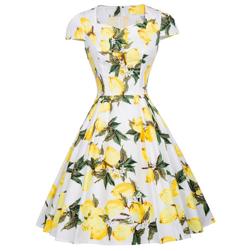 Leni Dress in Lemons