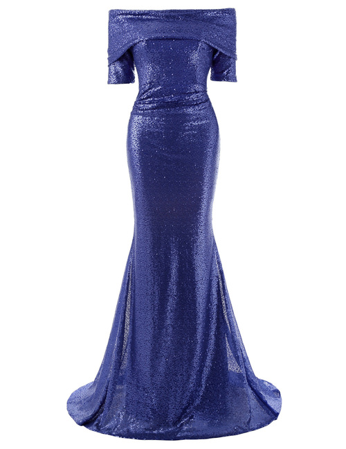 Crawford Dress in Blue Sequin