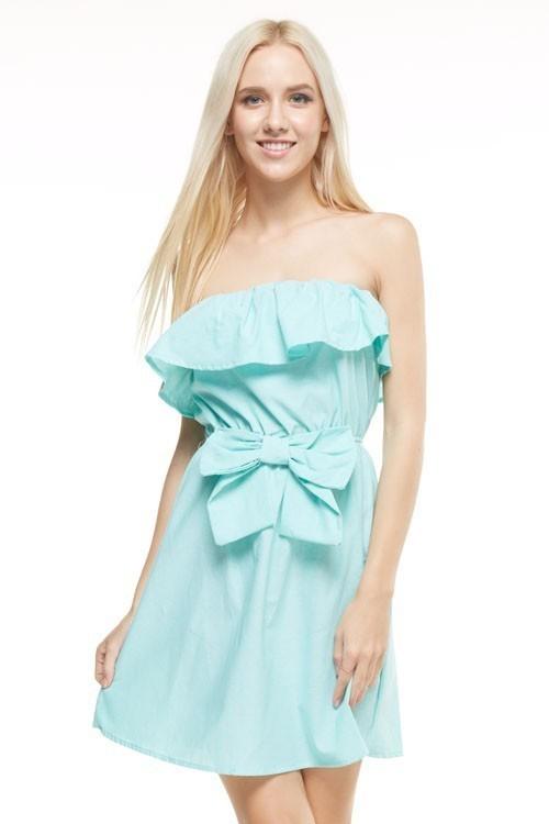 Aubrey strapless sundress (Mint)