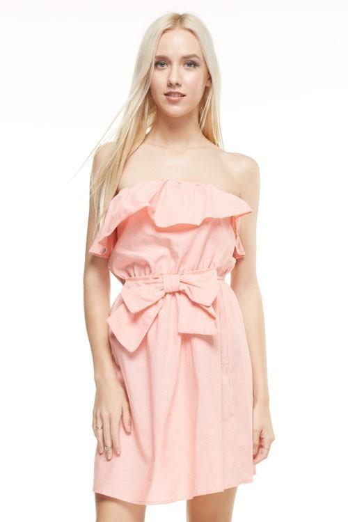 Aubrey strapless sundress (Peach)