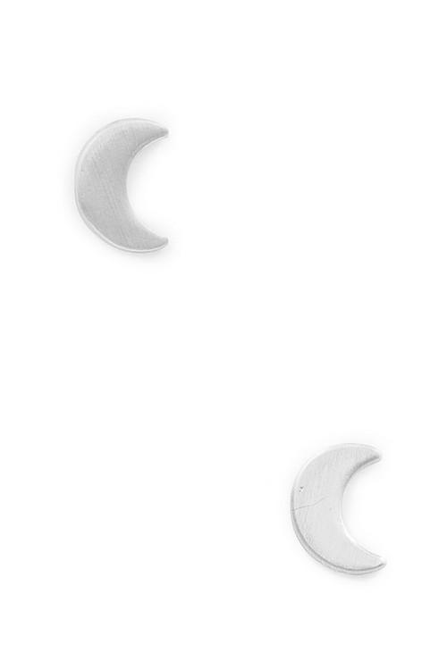 Crescent Moon stud earrings (Silver)
