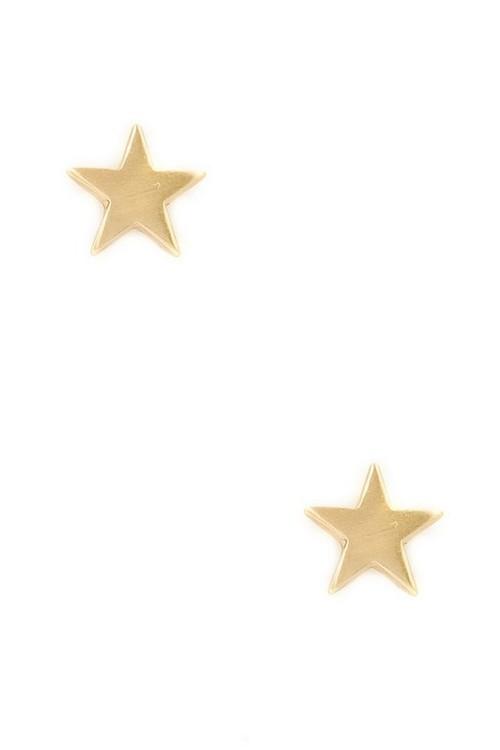 Star stud earrings(Gold)