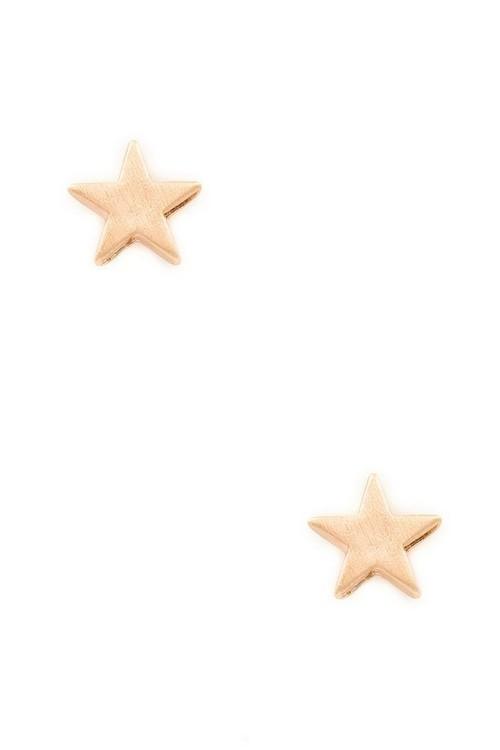 Star stud earrings (Rose Gold)