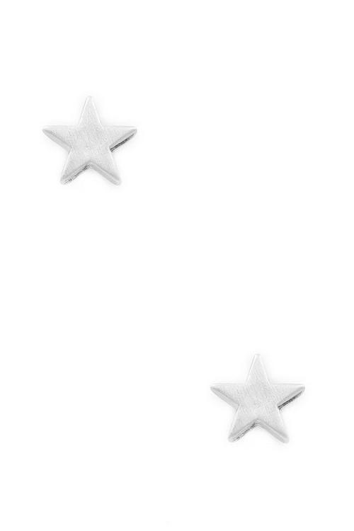 Star stud earrings (Silver)