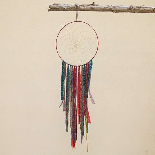 "Red and Gold 15"" Dream Catcher"
