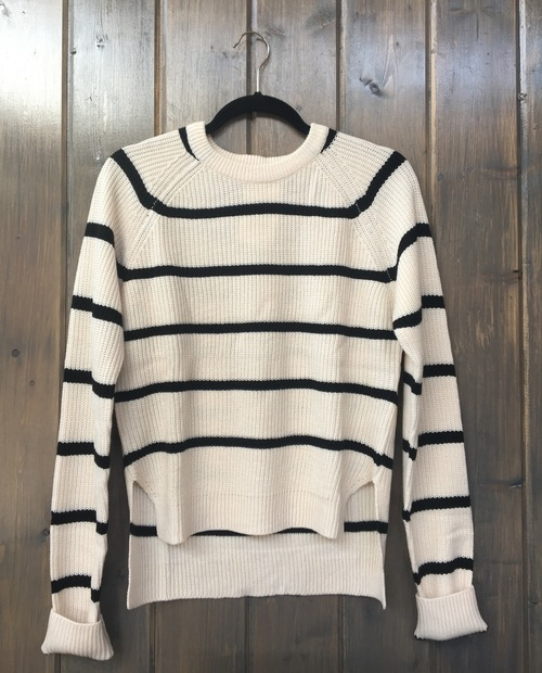 Crew Neck Striped Pullover Sweater