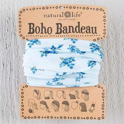 Sky Blue Roses Boho Bandeau