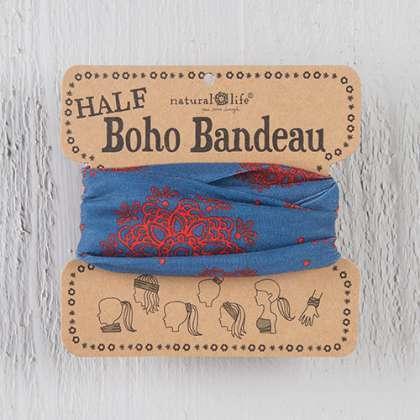 Grey & Coral Mandala Half Boho Bandeau