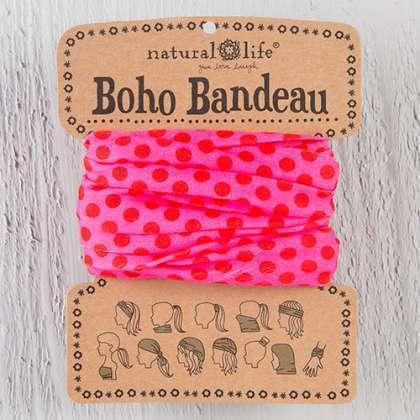 Pink Polka Dots Boho Bandeau