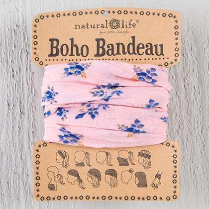 Pink Roses Boho Bandeau
