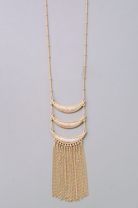 Ophelia long necklace (Gold/Silver)