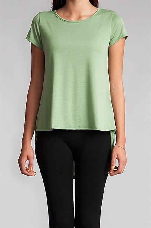 Abby high-low t-shirt (Pistachio)