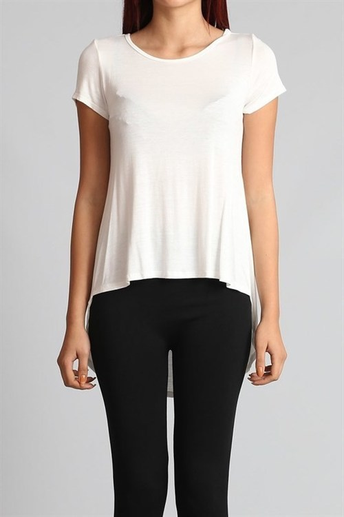 Abby high-low t-shirt (White)