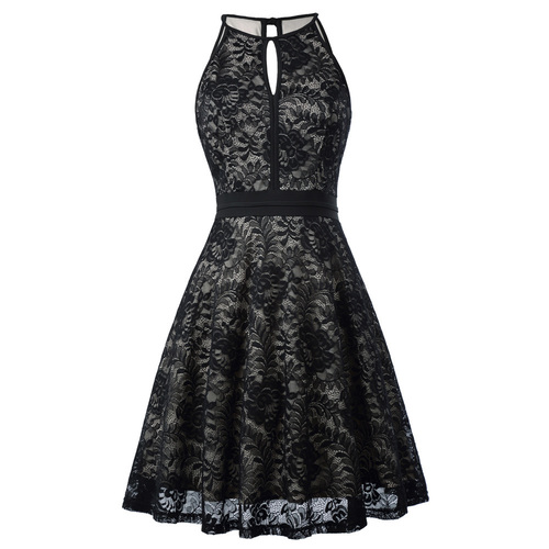 Hailey Dress in black lace