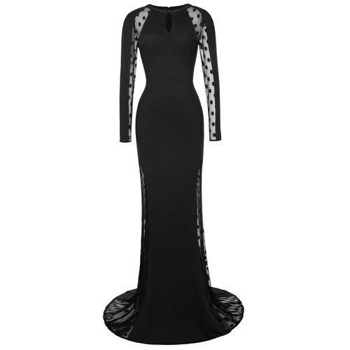 Morticia dress in black