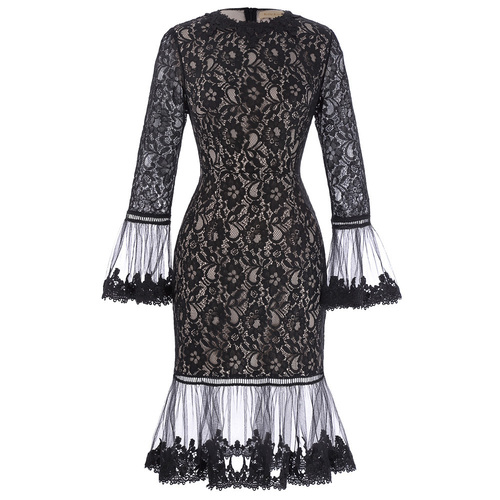 Joni Dress in Black Lace