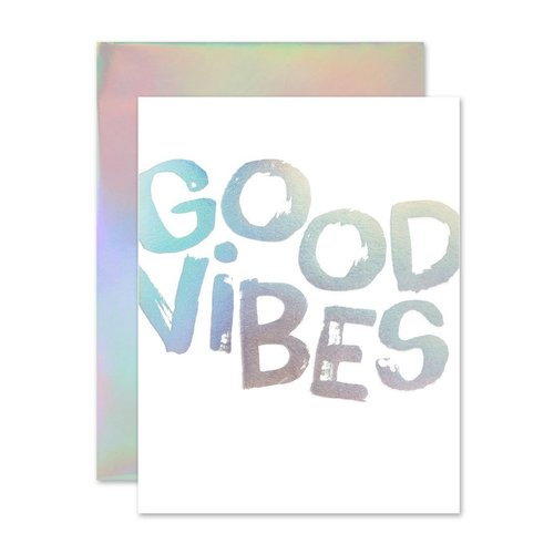 Good Vibes Holla- Gram Card