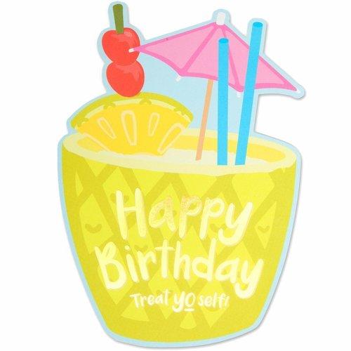 Pina Colada Birthday Die Cut Card
