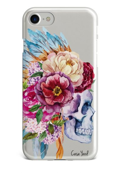 Watercolor Skull iPhone Case