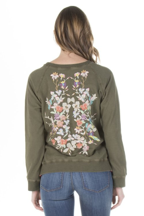 Nathalie Long Sleeve Embroidered Sweater