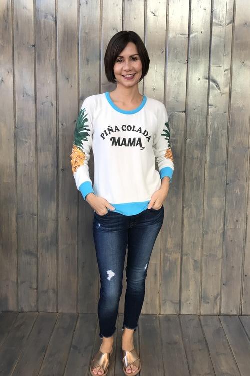 Pina Colada Mama Pineapple Pullover