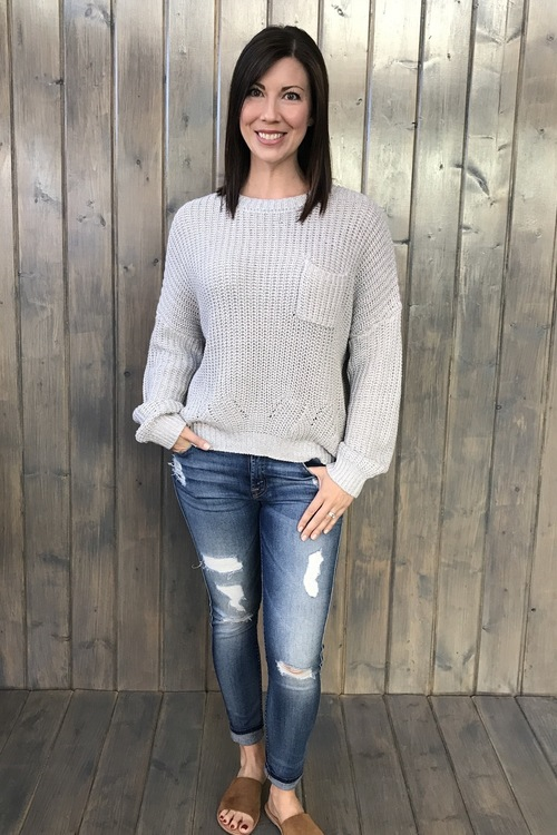 Willow Heather Sweater Grey